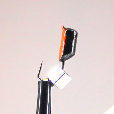 Морм.Ø3 Ст-к Черн, Красн Брюшко + Куб Гематит Серебро 3*3мм 0,9гр арт.30646 (упак.12шт)