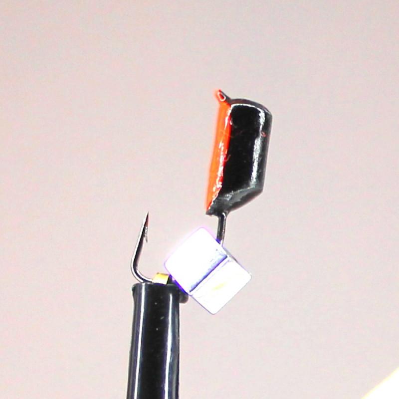 Морм.Ø3 Ст-к Черн, Красн Брюшко + Куб Гематит Серебро Ø3мм 0,9гр арт.30646 (упак.12шт)