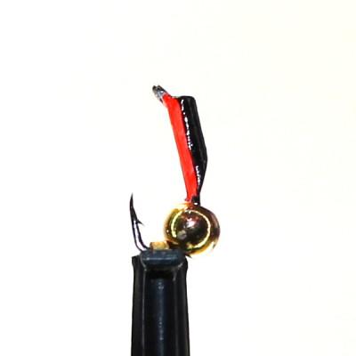 Морм.Ø 1,5 Микроб Черный, Красн Брюшко + Шар Золото, 0,16гр арт.15003 (упак.12 шт)