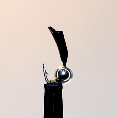 Морм.Ø 1,5 Микроб Черный + Шар Серебро, 0,16гр арт.15004 (упак.12 шт)