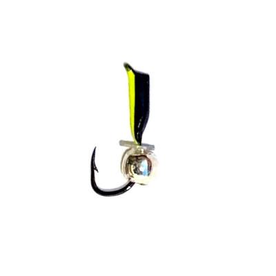 Морм.Ø 1,5 Ст-к Черн, Лайм Брюшко + Шар Серебро 2мм 0,3гр арт.15852 (упак.12шт)