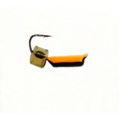 Морм.Ø 1,5 Ст-к Черн, Оранж Брюшко + Куб Гранен Гематит Золото 2*2мм 0,3гр арт.15843 (упак.12шт)