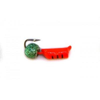 Морм.Ø2,5 Ст-к Красный, Черн Полоски + Шар Радуга Ø3мм 0,5гр арт.25482 (упак.12шт)