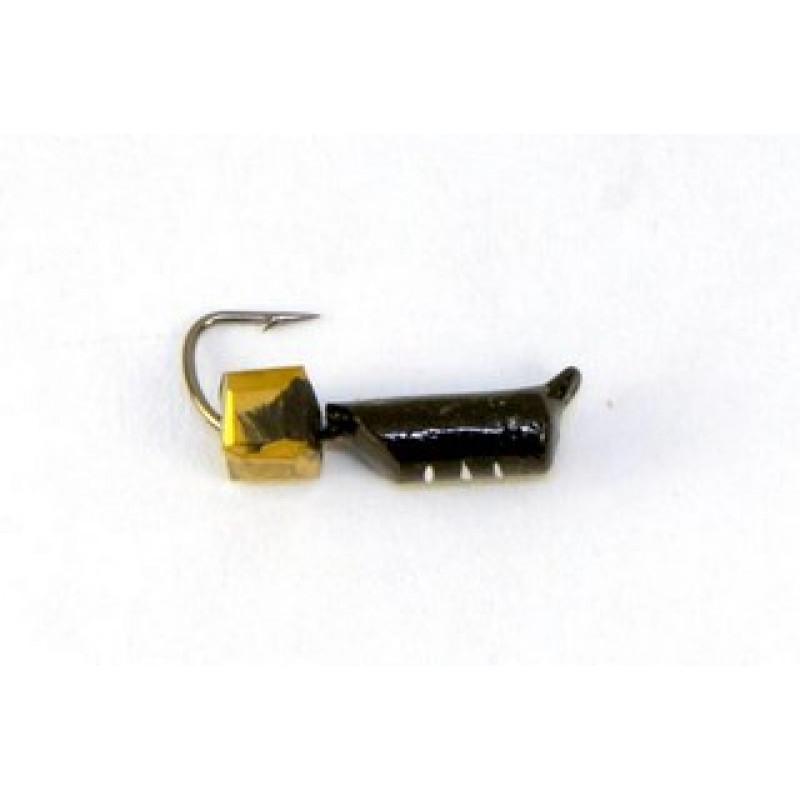 Морм.Ø2,5 Ст-к Черн, Белые Полос + Куб Гранен Гематит Золото 3*3мм 0,55гр арт.25809 (упак.12шт)