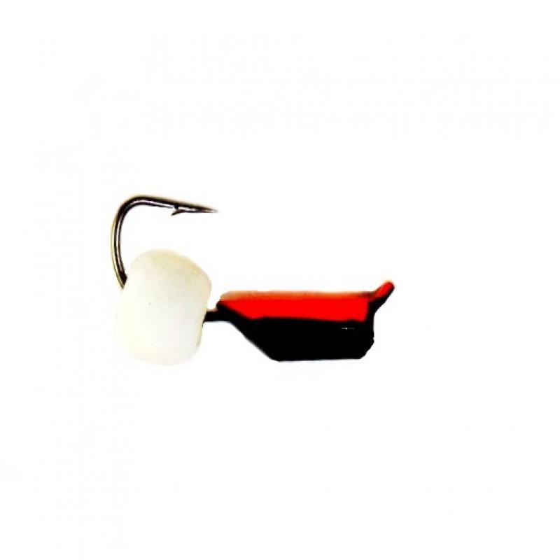 Морм.Ø2,5 Ст-к Черн, Красн Брюшко + Шар Белый Ø4мм 0,6гр арт.25814 (упак.12шт)