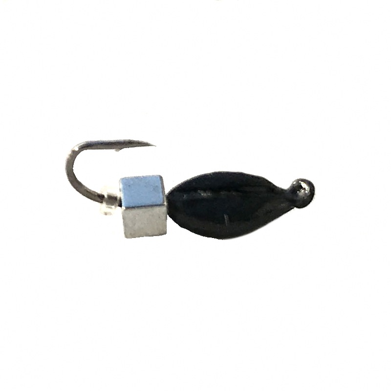 Морм.Ø3 Нимфа + Куб Гематит Серебро 2*2мм 0,6гр арт.30205(упак.12шт)