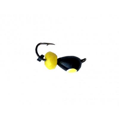 Морм.Ø4 Капля Черн, Лайм Глаз + Шар Гранен Желтый 1,1гр арт.40008 (упак.12шт)