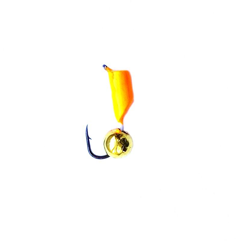 Морм.Ø3 Ст-к Оранж + Шар Золото Ø5мм 0,8гр арт.30642 (упак.12шт)