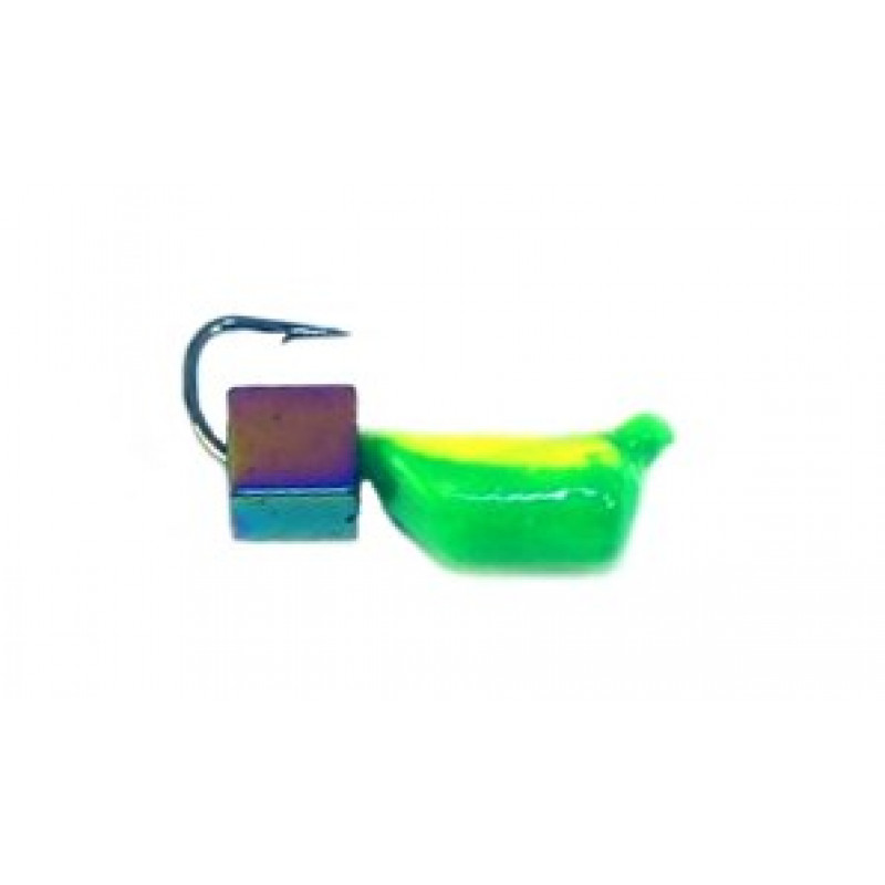 Морм.Ø3 Ст-к Зелен, Лайм Брюшко + Куб Гематит Хамелеон 3*3мм 0,85гр арт.30740 (упак.12шт)