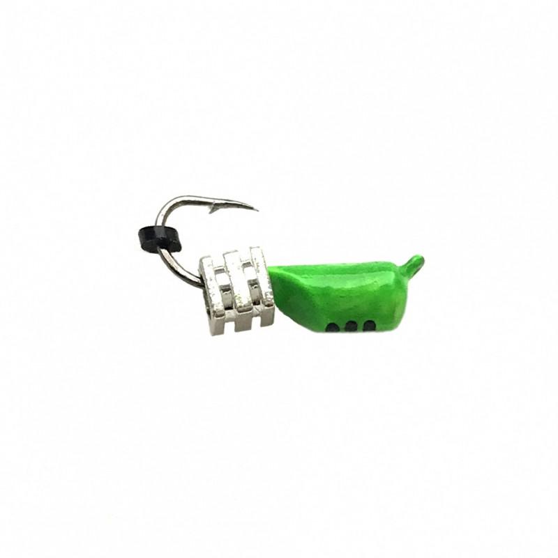 Морм.Ø3 Ст-к Зелен, Черн Полоск + Тетро Куб  Серебро 0,9гр арт.30251 (упак.12шт)