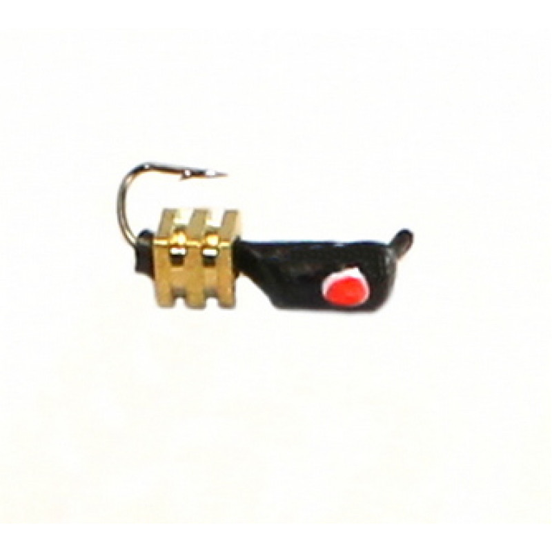 Морм.Ø3 Ст-к Черн, Красн Глаз + Тетро Куб Золото 2,5*2,5мм 0,9гр арт.30355 (упак.12шт)
