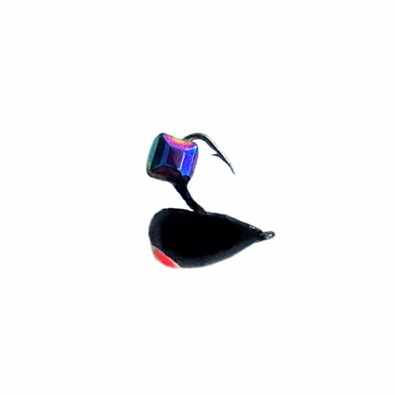 Морм.Ø4 Хрень Черная, Красн Глаз + Куб Гранен Хамелеон 0,68гр арт.42010 (упак.12шт)