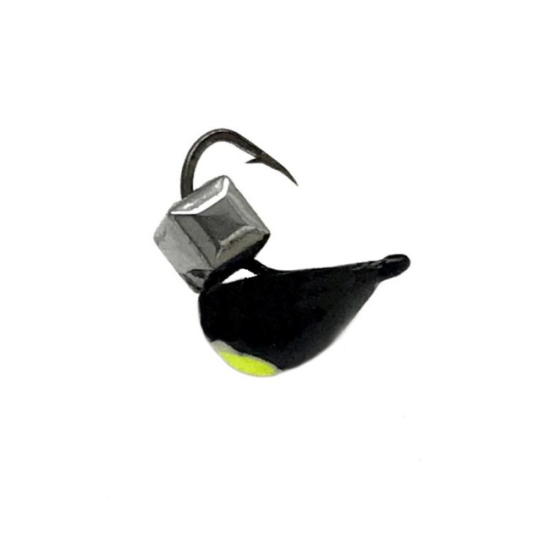 Морм.Ø4 Хрень Черная, Лайм Глаз + Куб Гранен Серебро 0,73гр арт.42003 (упак.12шт)