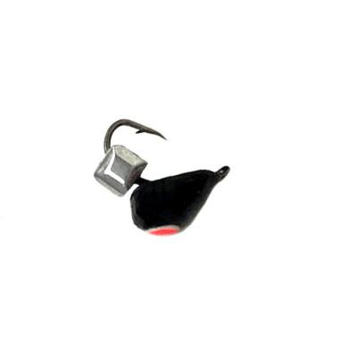 Морм.Ø4 Хрень Черная, Красн Глаз + Куб Гранен Серебро 0,68гр арт.42004 (упак.12шт)