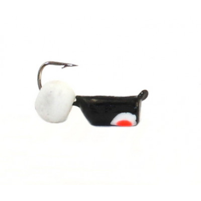 Морм.Ø3 Ст-к Черн, Красн Глаз + Шар Белый Ø4мм 0,8гр арт.30649 (упак.12шт)