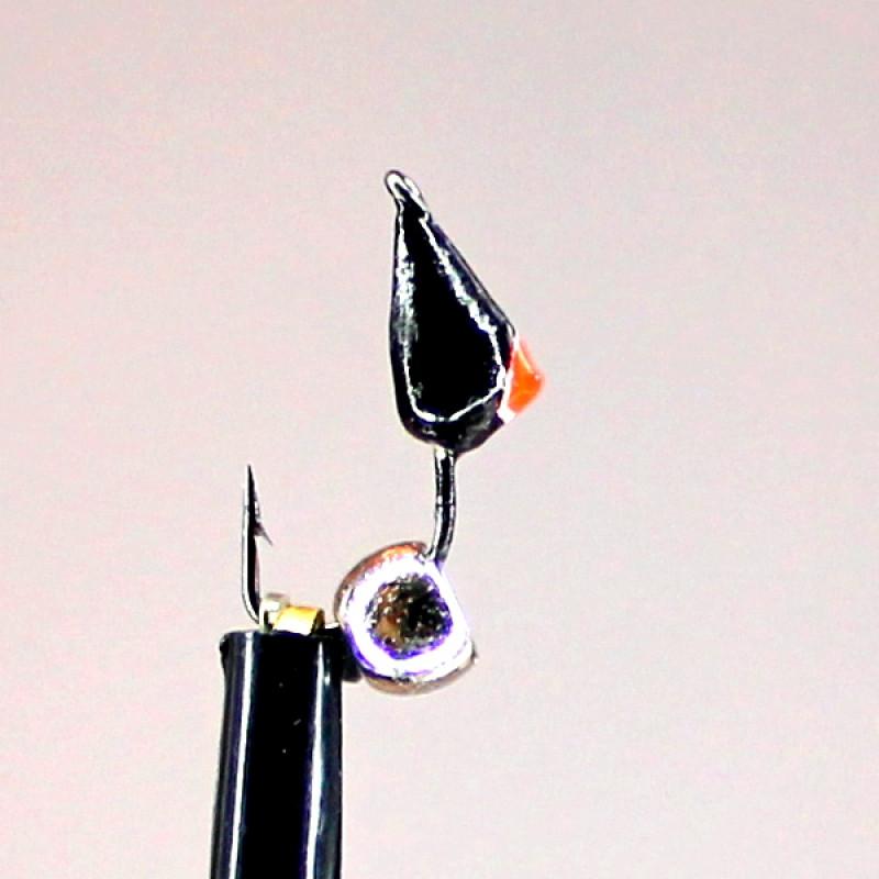 Морм.Ø3 Кунжут Черн, Красный Глаз + Шар Гематит Серебро 3мм 0,4гр арт.30130 (упак.12шт)