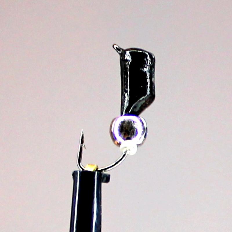 Морм.Ø3 Ст-к Черн + Шар Гематит Серебро Ø4мм 0,8гр арт.30493 (упак.12шт)