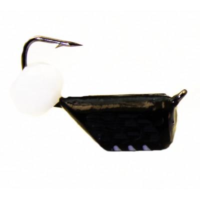 Морм.Ø4 Ст-к Черн, Белые Полоски + Шар  Белый 4мм 1,5гр арт.40290 (упак.12шт)