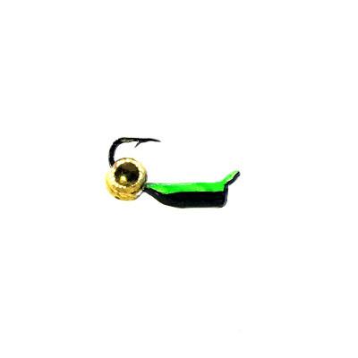 Морм.Ø 1,5 Микроб Черный, Зелен Брюшко + Шар Золото 0,16гр арт.15009 (упак.12 шт)