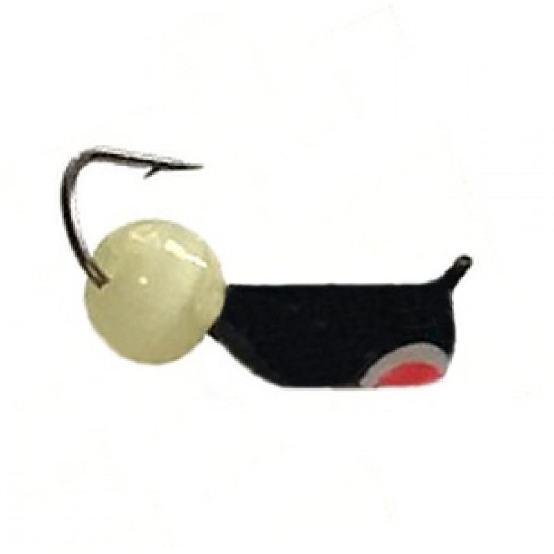 Морм.Ø3 Ст-к Черн, Красн Глаз + Шар Кошачий Глаз Желтый Ø5мм 0,8гр арт.30529 (упак.12шт)