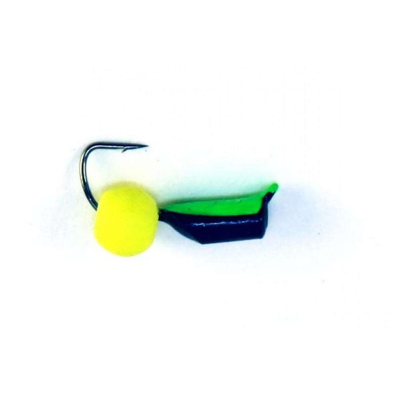 Морм.Ø2,5 Ст-к Черн, Зелен Брюшко + Шар Лайм Ø4мм 0,6гр арт.25667 (упак.12шт)