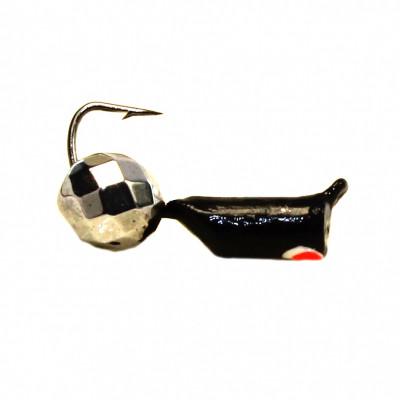Морм.Ø2,5 Ст-к Черн, Красн Глаз + Шар Гранен Гематит Серебро Ø4мм 0,65гр арт.25169 (упак.12шт)