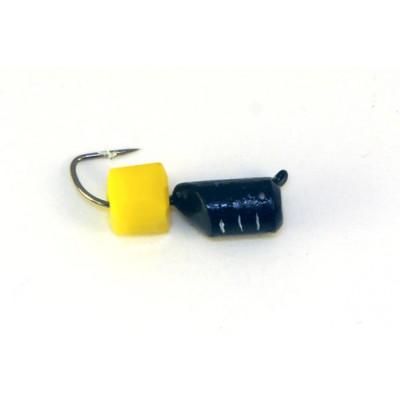 Морм.Ø4 Ст-к Черн, Белые Полос + Куб Гранен Сырный 4*4мм 1,7гр арт.40623 (упак.12шт)