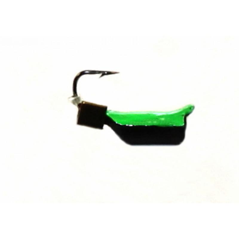 Морм.Ø2,5 Ст-к Черн, Зелен Брюшко + Куб  Гематит Золото 3*3мм 0,45гр арт.25682(упак.12шт)
