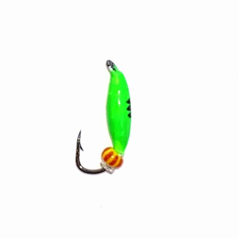 Морм.Ø2 Овсинка Зеленая, Черн Полоски + Бисер 0,25гр арт.22004 (упак.12шт)