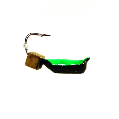Морм.Ø2 Ст-к Черн, Зелен Брюшко + Куб Гематит Золото 2*2мм 0,4гр арт.20837 (упак.12шт)