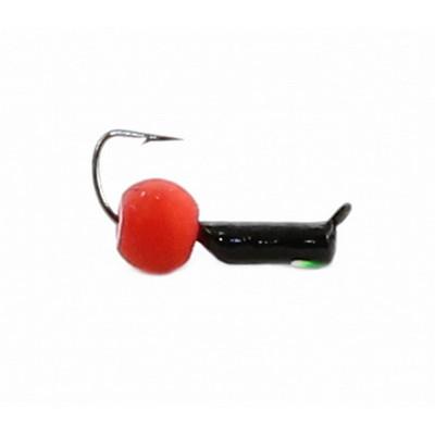 Морм.Ø2 Ст-к Черн, Зелен Глаз + Шар Красный Ø4мм 0,4гр арт.20829 (упак.12шт)