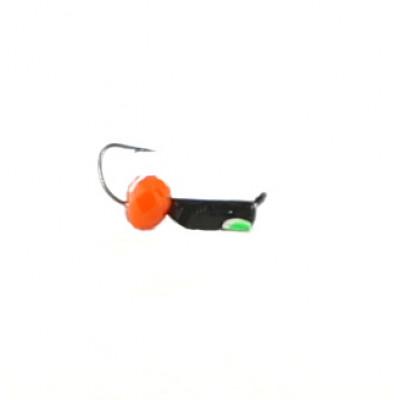Морм.Ø2 Ст-к Черн, Лайм Глаз + Шар Гранен Красный Ø4мм 0,4гр арт.20193 (упак.12шт)