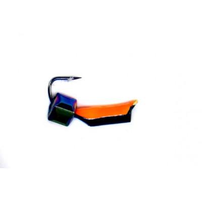 Морм.Ø2 Ст-к Черн, Оранж Брюшко + Куб Гранен Гематит Хамелеон 3*3мм 0,4гр арт.20899 (упак.12ш