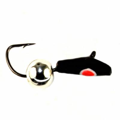 Морм.Ø2,5 Уголок Черн, Красн Глаз + Шар Серебро Ø3мм 0,5гр арт.27501 (упак.12шт)
