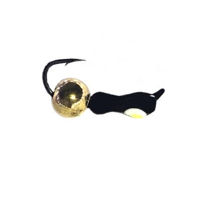 Морм.Ø2,5 Муравей Черн, Лайм Глаз + Шар Латунь Ø3мм 0,6гр арт.25997 (упак.12шт)