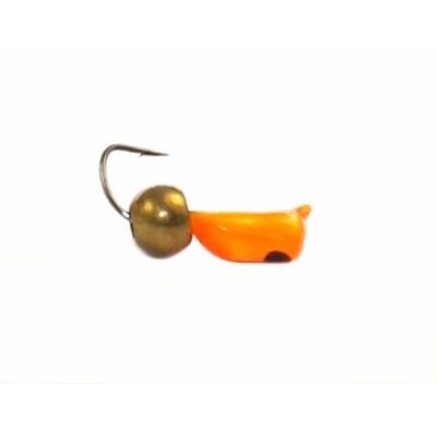 Морм.Ø2,5 Ст-к Оранж, Черн Глаз + Шар Латунь Ø3мм 0,7гр арт.25480 (упак.12шт)