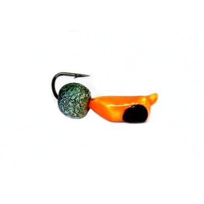 Морм.Ø2,5 Ст-к Оранж, Черн Глаз + Шар Радуга Ø3мм 0,5гр арт.25479 (упак.12шт)