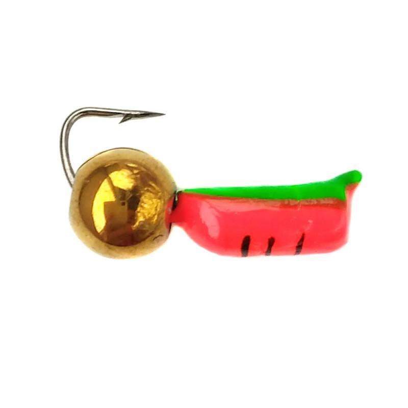 Морм.Ø2,5 Ст-к Оранж, Зелен Брюшко + Шар Гематит Золото Ø4мм0,7гр арт.25475 (упак.12шт)