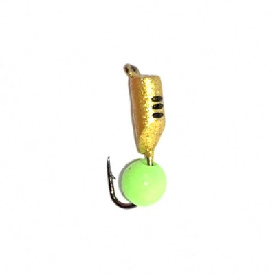 Морм.Ø2,5 Ст-к Золото, Черн Полос + Шар Зелен  0,5гр арт.25520 (упак.12шт)