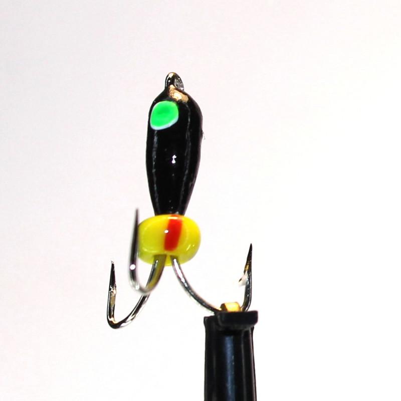 Морм.Ø3 Чертик Черный, Зелен Глаз + Бисер 1гр арт.30125 (упак.12шт)