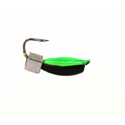Морм.Ø3 Нимфа, Зелен Брюшко + Куб Гематит Серебро 2*2мм 0,55гр арт.30397 (упак.12шт)