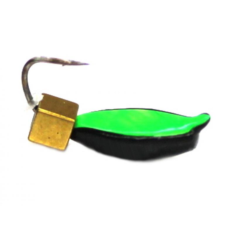 Морм.Ø3 Нимфа, Зелен Брюшко + Куб Гематит Золото 2*2мм 0,5гр арт.30396 (упак.12шт)