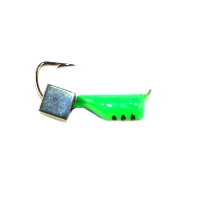 Морм.Ø2,5 Ст-к Зелен, Черн Полоски + Куб Гематит Хамелеон 3*3мм 0,45гр арт.25863 (упак.12шт)
