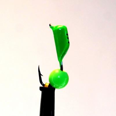Морм.Ø2,5 Ст-к Зелен, Черн Полоски + Шар Лайм Ø3мм 0,45гр арт.25864 (упак.12шт)
