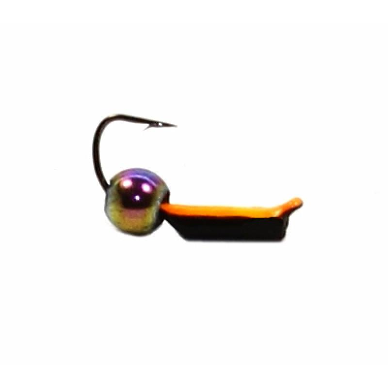 Морм.Ø 1,5 Ст-к Черн, Оранж Брюшко + Шар Гематит Хамелеон Ø2мм 0,3гр арт.15857 (упак.12шт)
