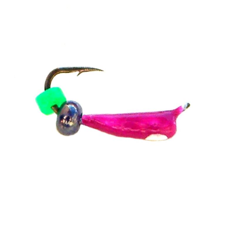 Морм.Ø 1,5 Микроб Фиолет, Белый Глаз + Бусина 0,16гр арт.15020 (упак.12 шт)
