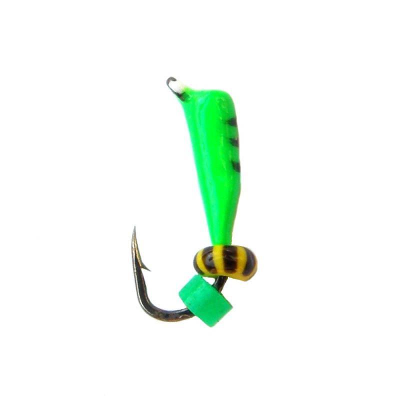 Морм.Ø 1,5 Микроб Зеленый, Черн Полос + Бисер 0,16г арт.15017 (упак.12 шт)
