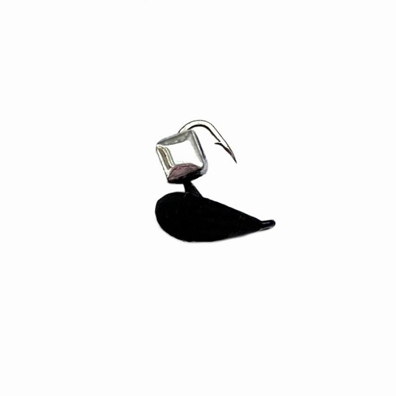 Морм.Ø3 Хрень Черная + Куб Гранен Гематит Серебро 2*2мм 0,4гр арт.32009 (упак.12шт)