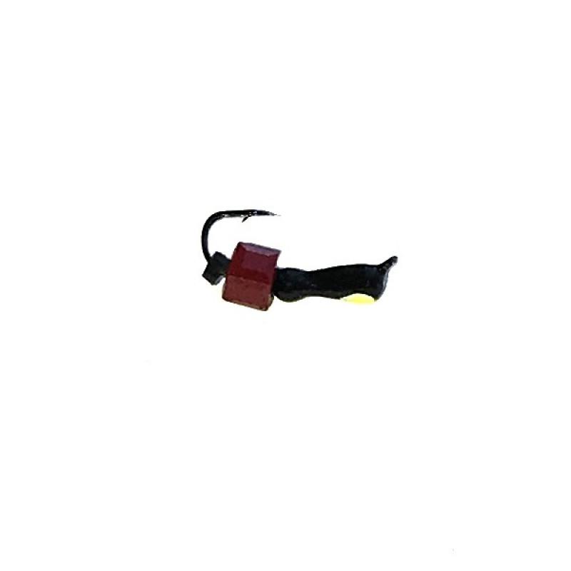 Морм.Ø2 Муравей Черн, Лайм Глаз + Куб Гранен Красный 2*2мм 0,3гр арт.20110 (упак.12шт)