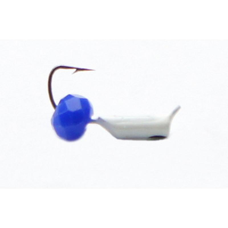 Морм.Ø2 Ст-к Белый, Черн Глаз + Шар Гранен Синий Ø4 мм0,35гр арт.20799 (упак.12шт)